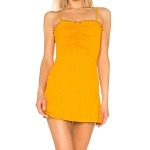Lover and Friends Schiffer Dress Honey Yellow NWT
